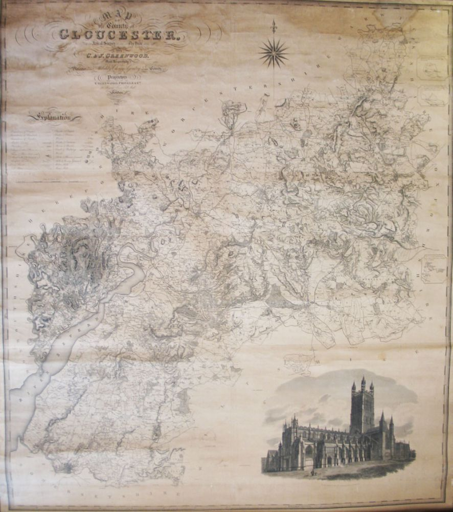 map of the county of gloucester made from an actual survey in the map