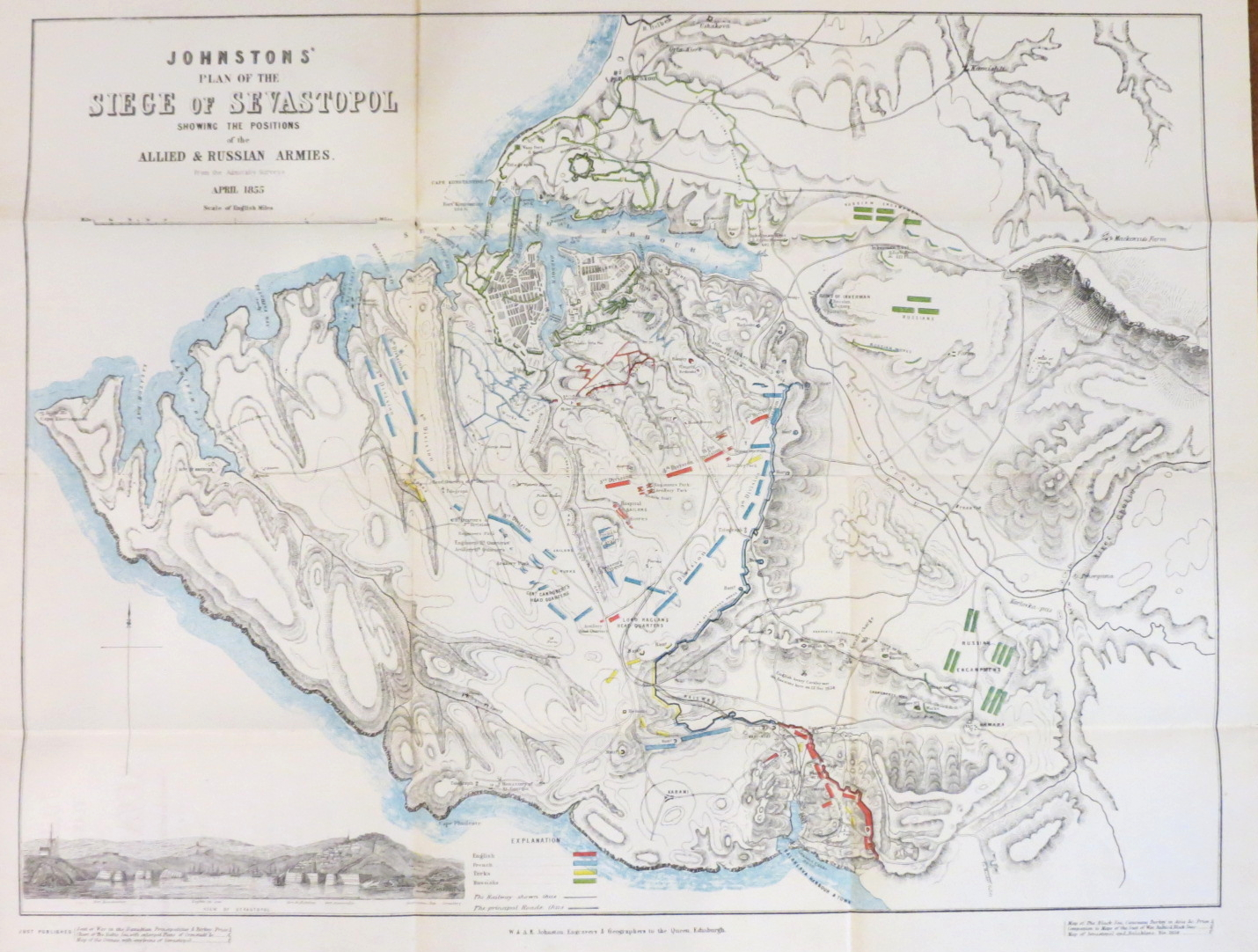 johnstons atlas of the war 1855 comprising johnston s new map johnstons atlas of the war 1855 comprising johnston s new map of the seat of war in the danubian principalities and turkey johnston s chart of the