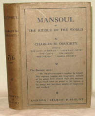 Mansoul. (Or, the Riddle of the World). Charles M. DOUGHTY.