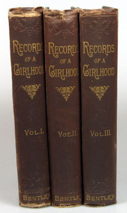 Record of a Girlhood. Frances Anne KEMBLE.