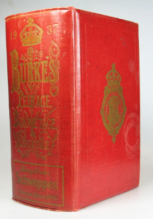 A Genealogical and Heraldic History of the Peerage and Baronetage, the Privy Council, and Knightage. Edited by E.M. Swinhoe. Sir Bernard BURKE, Ashworth P.