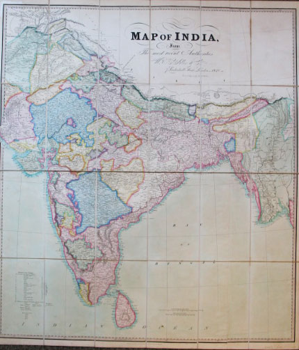 Map of India from the Most Recent Authorities. J. WALKER, C.
