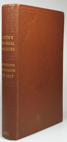 Curtis's Botanical Magazine Dedications, 1827-1927. Portraits and Biographical Notes. CURTIS, Ernest NELMES, William CUTHBERTSON, Compilers.
