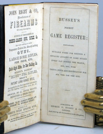 Bussey's Pocket Game Register [Annotated Copy]. HUNTING: Sussex.