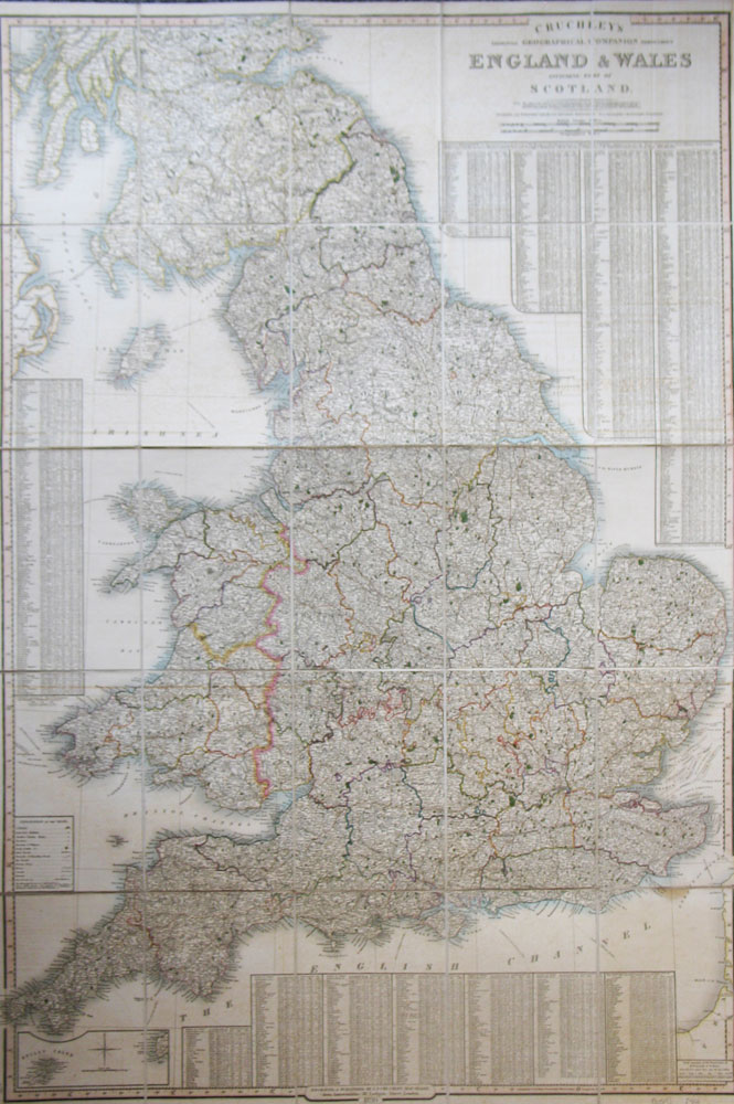 Cruchley's Improved Geographical Companion Throughout England & Wales Including Part of Scotland.