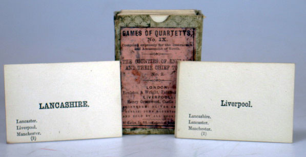 Games of Quartetts, No. IX. The Counties of England and Their Chief Towns, No. 2. GAME.