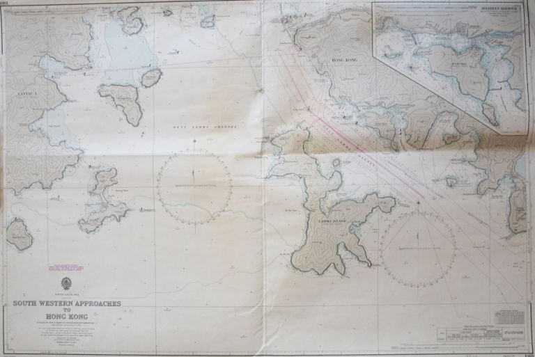 "South Western Approaches to Hong Kong. Surveyed by Comdr. M.J. Baker R.N. H.M. Surveying Ship ""Dampier""... With Additions and Corrections to. ADMIRALTY CHART."