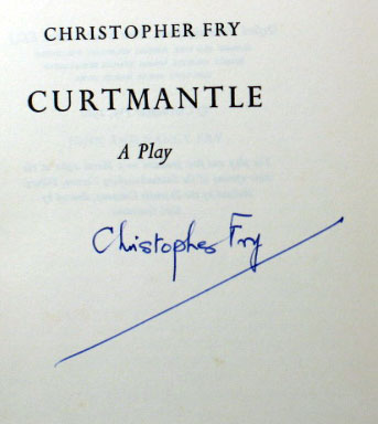 Curtmantle. A Play. Christopher FRY.