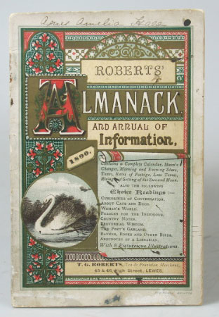 Roberts' Almanack and Annual of Information. 1890. ALMANACK.
