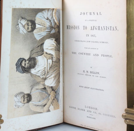 Journal of a Political Mission to Afghanistan, in 1857, Under Major (Now Colonel) Lumsden; with an Account of the Country and People. H. W. BELLEW.