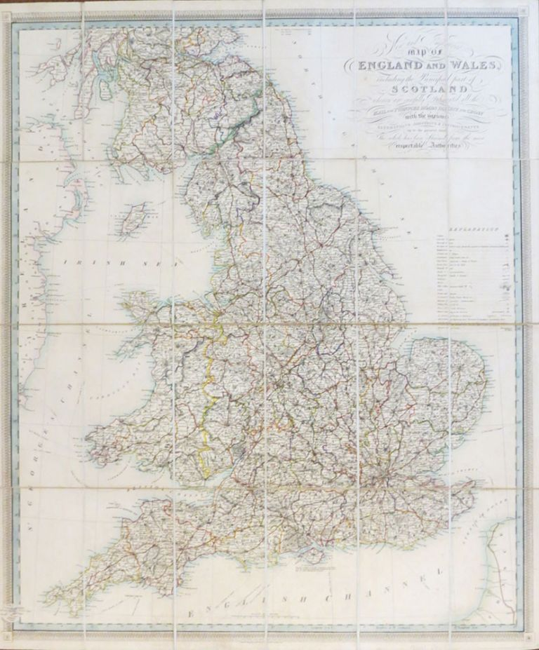 New and Improved Map of England and Wales, Including the Principal Part of Scotland whereon are Carefully Delineated all the Mail and Turnpike Roads Direct and Cross with Various Alterations Additions & Improvements Up to the Present Time. W. R. GARDNER.