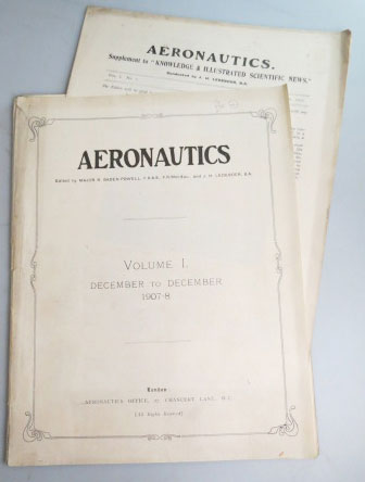Aeronautics. (A Monthly Journal devoted to the technique of Aeronautics). Vol. I. Nos. 1-12. AERONAUTICS, Major B. LEDEBOER BADEN-POWELL, J. H.