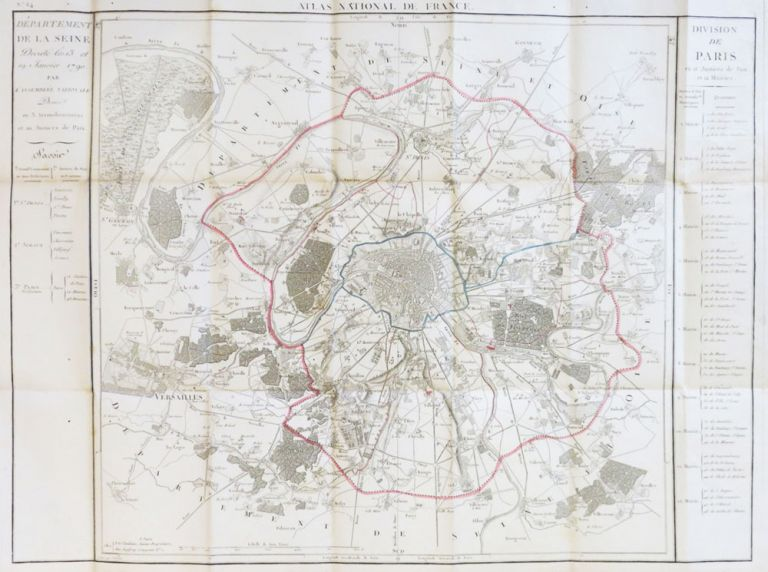 [Map of Paris]. Département de la Seine. Pierre DUMEZ.