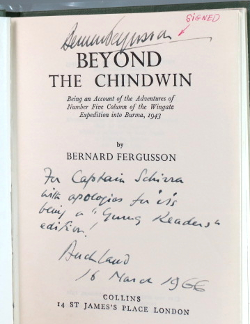 Beyond the Chindwin. Being an Account of the Adventures of Number Five Column of the Wingate Expedition into Burma, 1943. Bernard FERGUSSON.