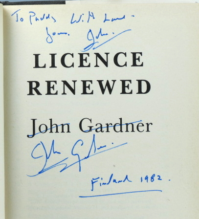 Licence Renewed. John GARDNER.