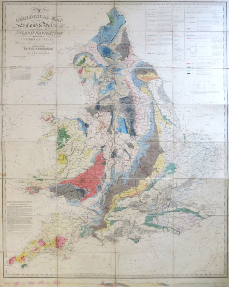 Map Of England Rivers And Canals.A Geological Map Of England Wales Showing Also The Inland