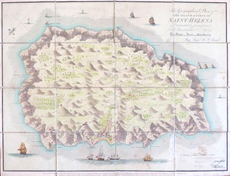 Geographical Plan of the Island and Forts of Saint Helena. Lieut. R. P. READ.