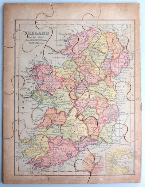 [Jigsaw Map of] Ireland. G. W. BACON, Co, Publisher.
