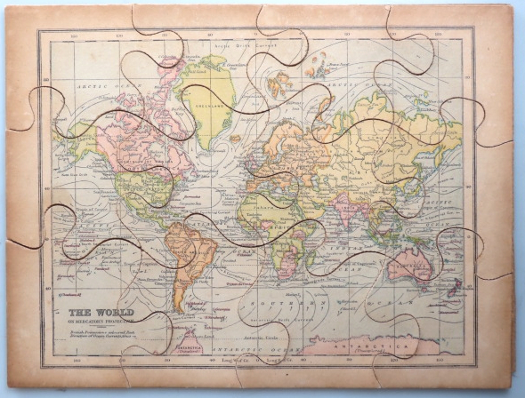 [Jigsaw Map of] The World. G. W. BACON, Co, Publisher.