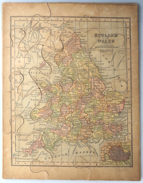 [Jigsaw Map of] England and Wales. G. W. BACON, Co, Publisher.