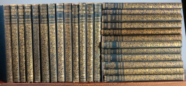 (The Novels and Stories of...). Roderick Hudson. The American. The Europeans. Confidence. Washington Square. The Portrait of a Lady. The Bostonians. The Princess Casamassima. The Tragic Muse. The Awkward Age. The Spoils of Poynton. What Maisie Knew. The Aspern Papers. The Reverberator. Lady Barberina. The Lesson of the Master. The Author of Beltraffio. The Altar of the Dead. Daisy Miller. Watch and Ward. A Diary of a Man of Fifty. The Last of the Valerii. Lord Beaupré. Maud-Evelyn. The Sacred Fount. The Wings of a Dove. The Ambassadors. The Golden Bowl. Henry JAMES.