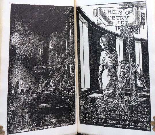 Echoes of Poetry. By J.D.B. With drawings by James Guthrie. PEAR TREE PRESS.