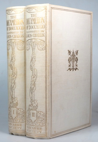 The Decameron of... Faithfully translated by J.M. Rigg. With an illustrated introduction and ... drawings by Louis Chalon. Giovanni BOCCACCIO.