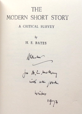 The Modern Short Story. A Critical Survey. H. E. BATES.