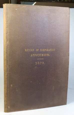 Return of Corporation Appointments. 1879. CORPORATION OF LONDON COMMON COUNCIL.