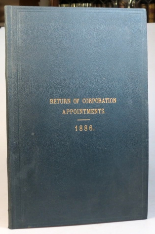 Return of Corporation Appointments. 1886. CORPORATION OF LONDON COMMON COUNCIL.