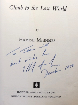 Climb to the Lost World. Hamish MACINNES.