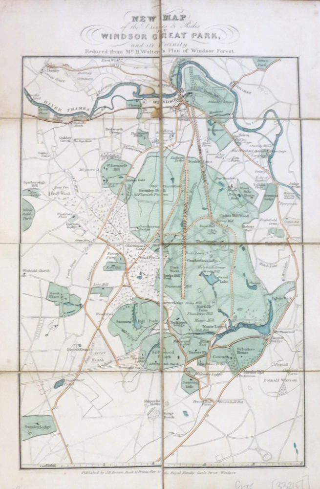 New Map of the Drives & Rides in Windsor Great Park, and its Vicinity. Reduced from Mr. H. Walter's Plan of Windsor Forest. H. WALTER.