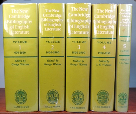 The New Cambridge Bibliography of English Literature. CAMBRIDGE, George WATSON, I. R. WILLISON, I. D. PICKLES.
