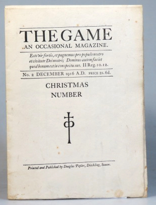 The Game. An Occasional Magazine. No. 2. December 1916. SAINT DOMINIC'S PRESS.