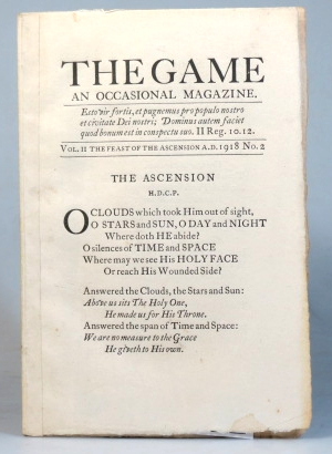 The Game. An Occasional Magazine. Vol. II. No. 2. The Feast of Ascension 1918. SAINT DOMINIC'S PRESS.