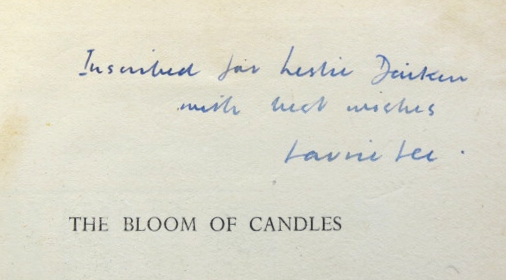 The Bloom of Candles. Verse from a Poet's Year. Laurie LEE.