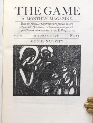 The Game. A Monthly Magazine. January - December 1921. Vol. IV. No's 1-12. SAINT DOMINIC'S PRESS.