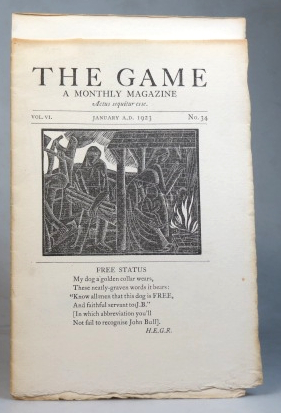 The Game. A Monthly Magazine. Vol. VI. No. 34. January 1923. SAINT DOMINIC'S PRESS.