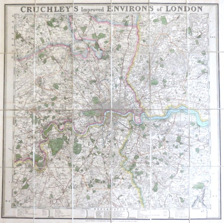 Cruchley's Improved Environs of London. G. F. CRUCHLEY.