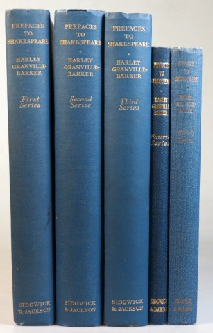 Prefaces to Shakespeare. First - Fifth series. Harley GRANVILLE-BARKER.