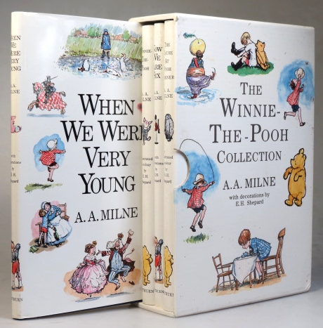 When We Were Very Young. Winnie-the-Pooh. Now We Are Six. The House at Pooh Corner. With Decorations by Ernest H. Shepard. A. A. MILNE.