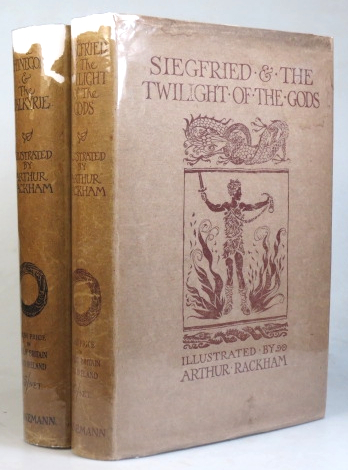 The Rhinegold & the Valkyrie. [with] Siegfried & the Twilight of the Gods. With Illustrations by Arthur Rackham. Translated by Margaret Armour. RACKHAM, Richard WAGNER.