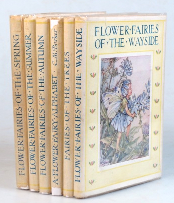 Flower Fairies of the Spring. ...of the Summer. ...of the Autumn. A Flower Fairy Alphabet. Fairies of the Trees. Flower Fairies of the Wayside. Cicely Mary BARKER.