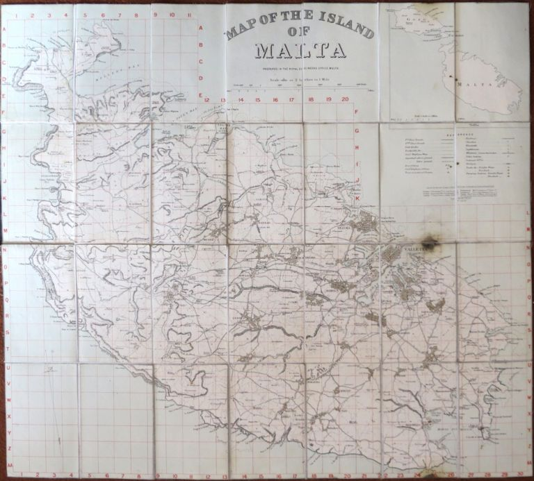 Map of the Island of Malta. Prepared in the Royal Engineers Office, Malta. ROYAL ENGINEERS.