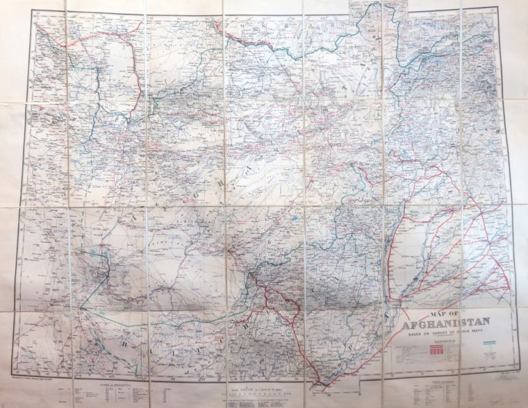 Map of Afghanistan Based on Survey of India Maps. WAR OFFICE.