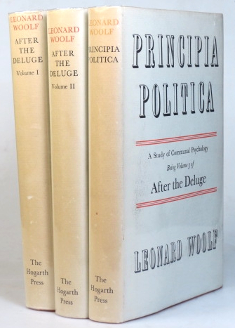 After the Deluge. Principia Politica. A Study of Communal Psychology. Leonard WOOLF.