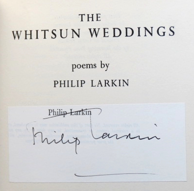 The Whitsun Weddings. Poems by. Philip LARKIN.