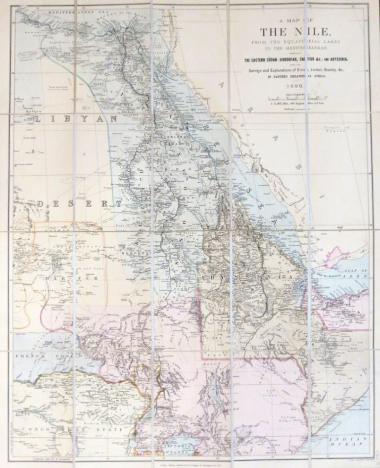 A Map of the Nile, from the equatorial lakes to the Mediterranean, embracing the eastern Sudan (Kordofan, Darfur &c.) and Abyssinia, with the Surveys and Explorations of Emin, Junker, Stanley, &c., in eastern equatorial Africa. Edward STANFORD.