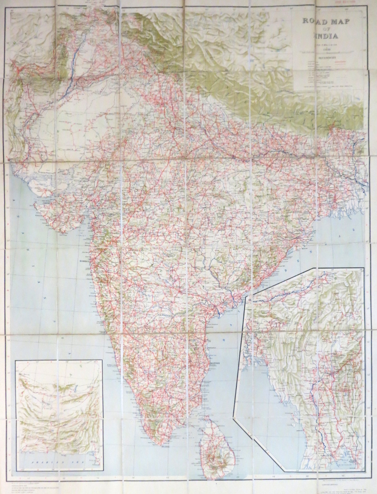 Road Map of India. SURVEY OF INDIA.