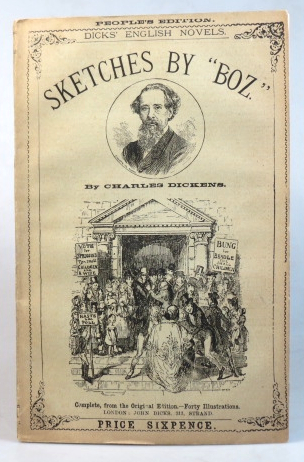 """Sketches by """"Boz."""" With... illustrations by George Cruikshank. Charles DICKENS."""